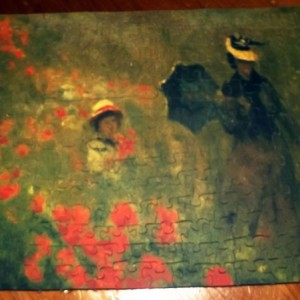 "Hand Cut Wooden Jigsaw Puzzle ""Monet- Poppies"""