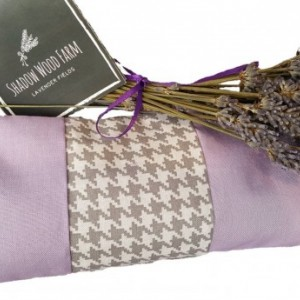 Lavender Eye Pillow- Lavender Houndstooth