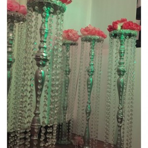 Chandelier Aisle Markers I Wood