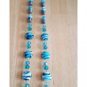 Pull Chains for Ceiling Fans or Lamps - Blue Creamsicle