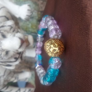 Blue colored lion charmed braclet