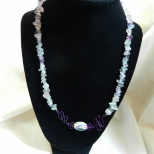 Necklace & Earring Set Oval Ribbon