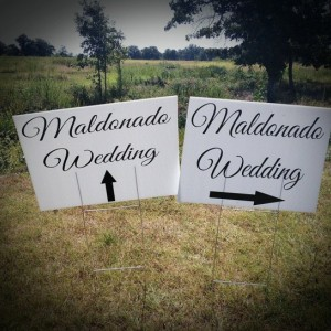 Wedding Yard Sign, Wedding Directional Sign, Corrugated Plastic Yard Signs, Yard Signs, Personalized Yard Signs, Wedding Signs, 18x24 SINGLE SIDED