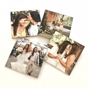 Ceramic Personalized Coasters, Set of 4, Photo Coasters, Custom Coasters, Wedding Gift, Anniversary Gift, Birthday Gift, Instagram Photos