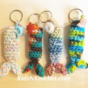 set of 2 / Mermaid tail chap stick / lip balm key chain / you choose color