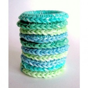 Cat Ferret Recycled Rings Toy Toys Handmade Michigan Blue Green
