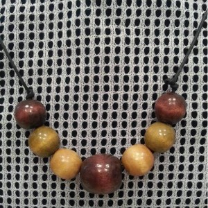 Men's Earth Wooden Bead Choker/Necklace
