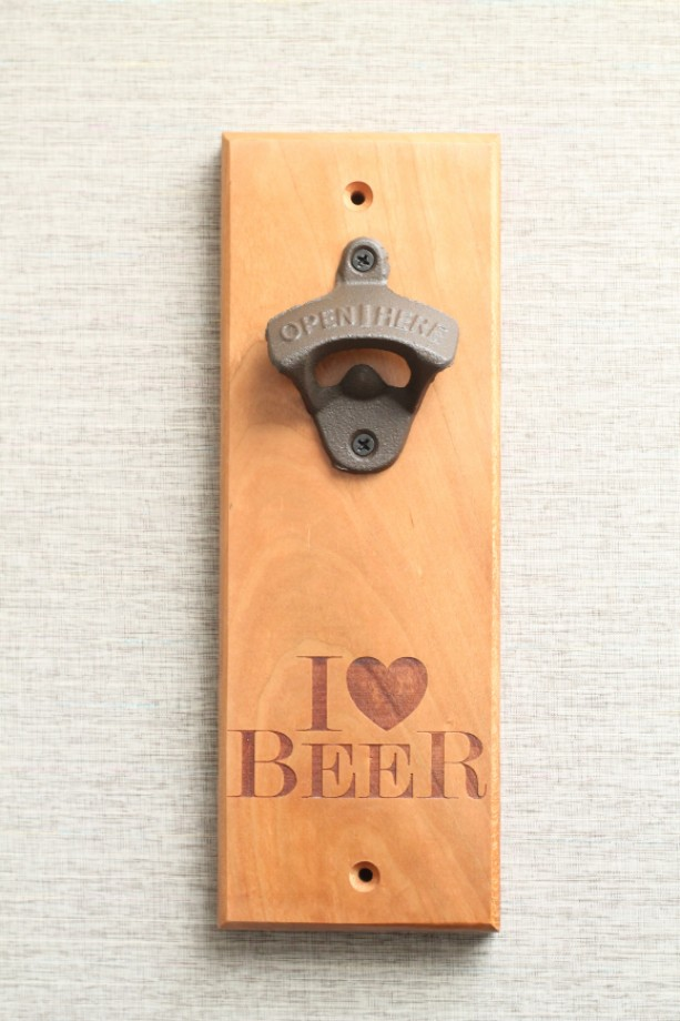 cherry wall mounted bottle opener aftcra. Black Bedroom Furniture Sets. Home Design Ideas