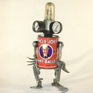 UNCLE JOE ASSEMBLAGE ROBOT SCULPTURE BY JEFFERY WEATHERFORD
