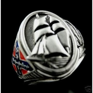 CSS Alabama  nautical sterling silver signet ring