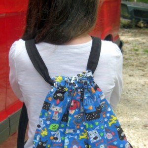 Too Many Dogs Child Drawstring Backpack
