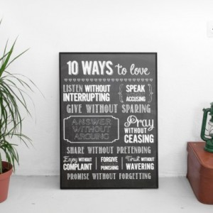 10 Ways To Love | Inspirational Art Print | Scripture Home Decor | Housewarming Gift | Gift For Couple