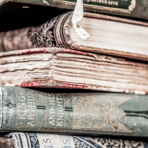 """Book Photography, Book Photo, Vintage Book Art, """"Stacked"""""""