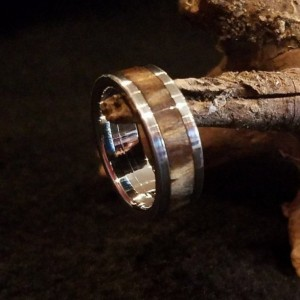 size 5 stainless steel ring core. the center of a pinecone makes beautiful rings, this is no exception, 6mm band width