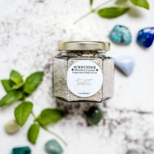 SURRENDER *Mystery Crystal* Peppermint Body Scrub