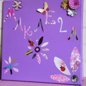 Flower themed child's wall decor