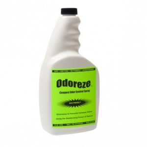 ODOREZE Natural Compost Odor Control Spray: 32 oz. Concentrate Makes 128 Gallons