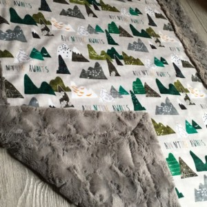ShipsNow Minky Baby Blanket All Minky Adventure Mountain Baby Toddler Childrens