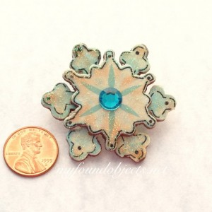 Snowflake Glitter Frosted Pin