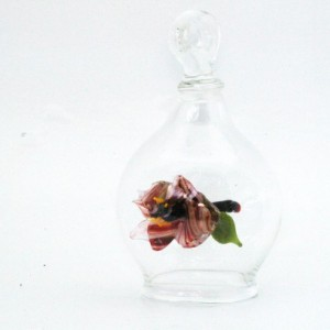 Flying Glass Orb: Magnificat Red Flower