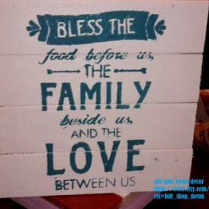 Bless the food before us, Large hand painted wood sign, Kitchen & dining room decor, Housewarming gift, wedding gift,