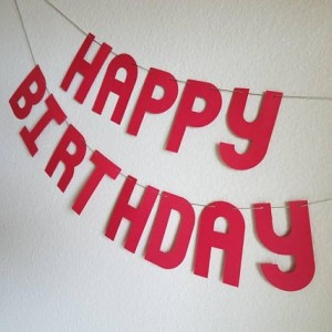 Red Happy Birthday Banner