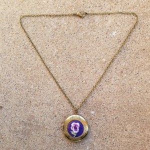 Purple rose locket
