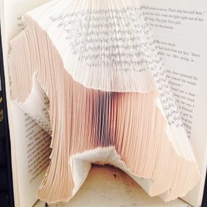 Schnauzer Book Origami - Upcycled Book - Schnauzer Folded Book Art