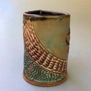 Octopus Pottery Mug Coffee Cup Handmade Functional Tableware Microwave and Dishwasher Safe 12oz