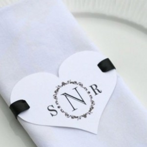 Wedding Napkins rings, personalized napkins rings, personalized napkin ring, paper napkin ring - Set of 10