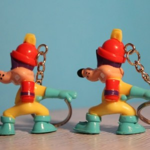 Darkwing Duck Upcycled PVC Figure Keychains