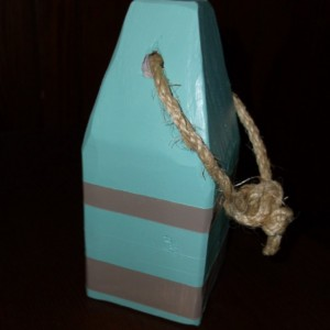 Nautical Lobster Buoy- Teal and Tan