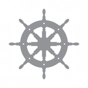 Ships Wheel - Coastal Design Series - Etched Decal - Shower Doors, Sliding Glass Doors & Windows - Available in different sizes