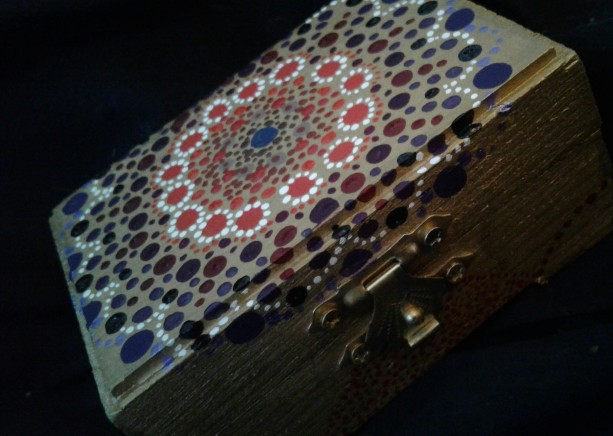 Gold Mandala Jewelery Box