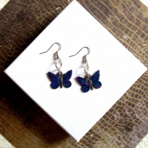 Blue Butterfly Earrings, Small Butterfly Earrings, Butterfly Jewelry, Butterfly Accessory, Gifts for Her, Earrings Butterflies Moth Earrings