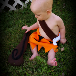 Cave boy Halloween costume for baby