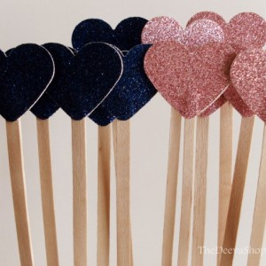 Wedding Drink Stirrers, Glitter Weddings , Drink Cocktail Party Wooden Drink Stirrers, Princess Party Wands, Glitter Stir Sticks, 25 Pc Lot