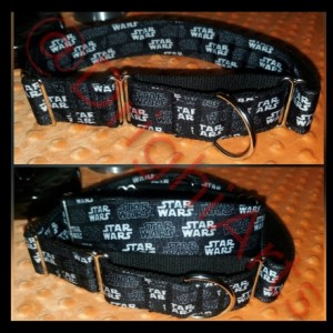 "Star Wars - 1.5"" Martingale Dog Collar - Heavy Duty - Slip on"