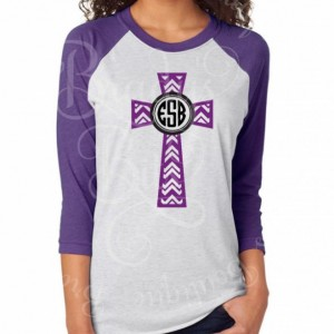 Chevron Cross Raglan Tee