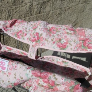 Twin Handmade Shopping Cart Cover, keeps baby away from germs, for two Girls, Sam's, Aldi's, BJ's, Costco