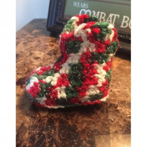 0/6 Month Unisex Crocheted Christmas Cowboy Boots