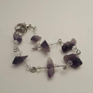 Purple Amethyst Quartz Crystal Bracelet