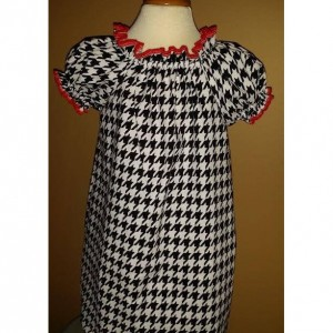 Houndstooth Peasent dress