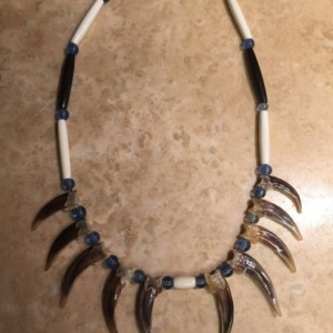 Native American Made Badger Claw Necklace 10 claws