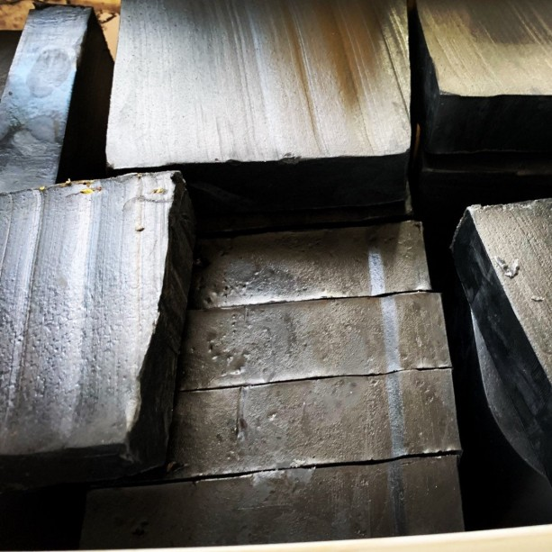 Charcoal skin tightening soap