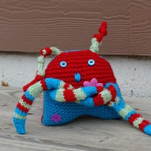 Hand Knitted Kawaii, Toy, Funny Toy, Toddler Monster Toy, Stuffed Toy, All Handmade, Ready to Ship, Fantasy Kawaii, Plush Kawaii, Soft Toy