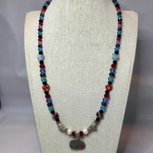 Multicolored Beaded charm necklace