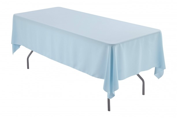 60 x 126 inch Rectangular Baby Blue Tablecloth Polyester | Wedding Tablecloth