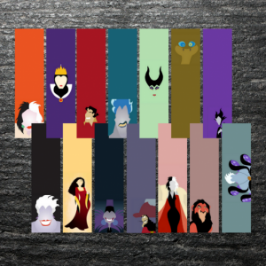 Disney Villains Bookmarks