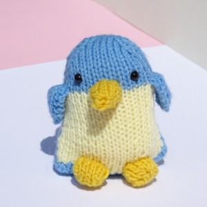 Hand Knitted Penguin, Stuffed Penguin, Small Baby Penguin, Knit Toy